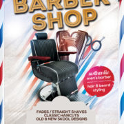 Barbershop Grand Opening Free PSD Flyer Template