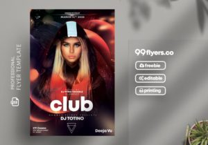 DJ Club Event Free PSD Flyer Template