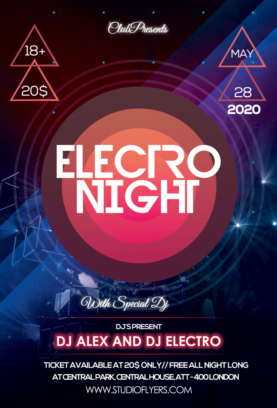 Electro Event Free PSD Flyer Template