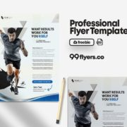 Fitness Promotion Flyer Freebie PSD Template