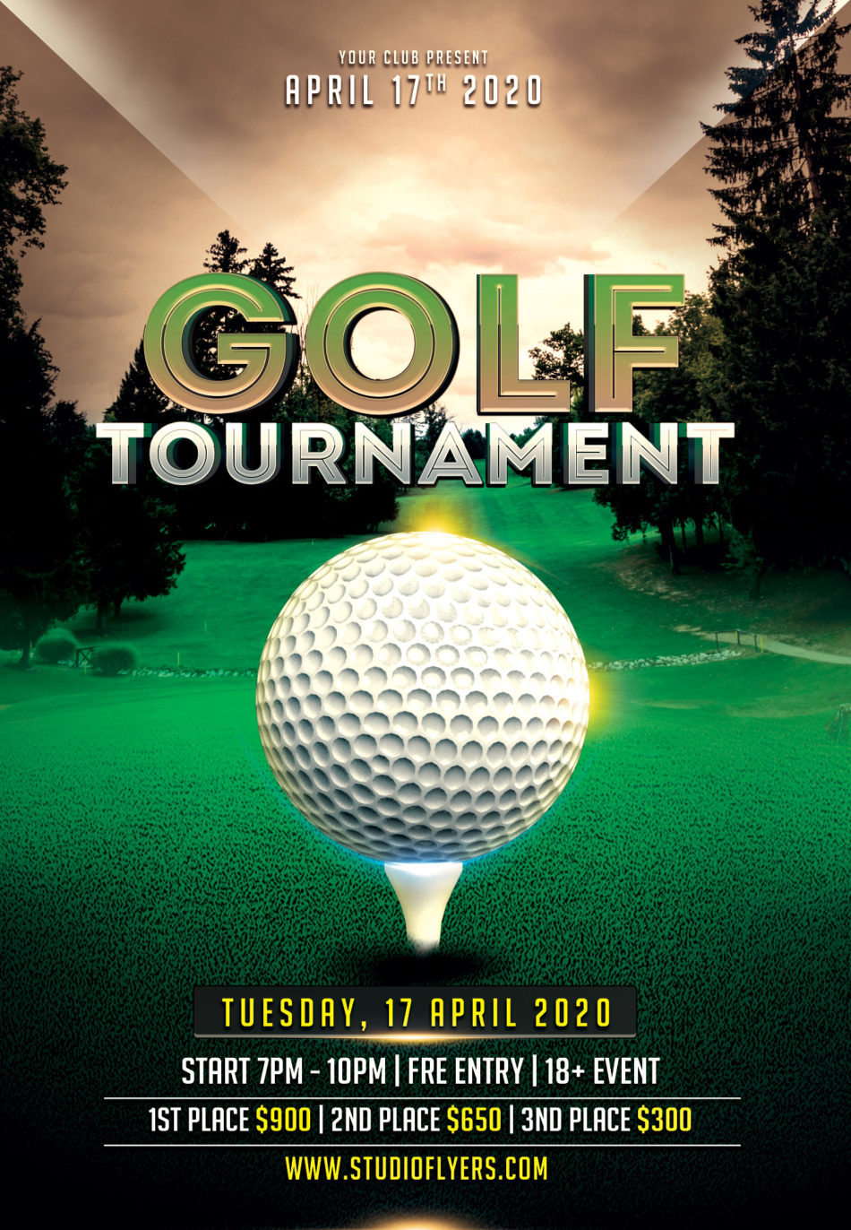 Golf Game Free PSD Flyer Template