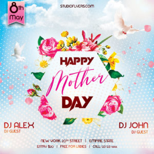 Mother Day Event Free PSD Flyer Template