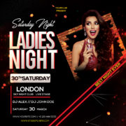 Club Ladies Party Freebie PSD Flyer Template