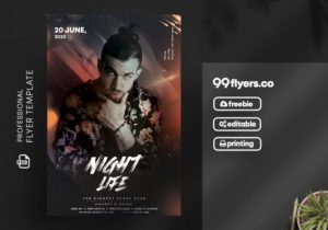 Night Vibes Flyer Free PSD Template