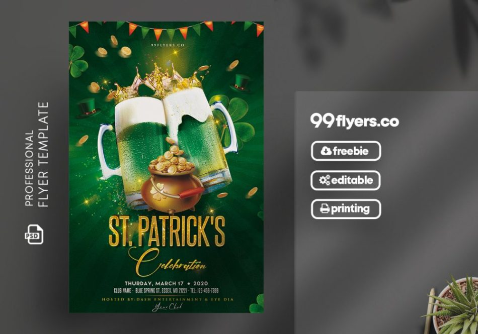 Patrick's Day Event Flyer Free PSD Template