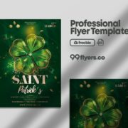 Saint Patrick's Celebration Flyer Free PSD Template