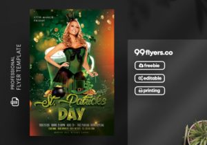 St Patricks Event Flyer Free PSD Template