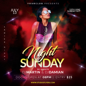 Elegant Night Club Free PSD Flyer Template