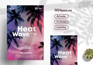 Tropical Event Free PSD Flyer Template