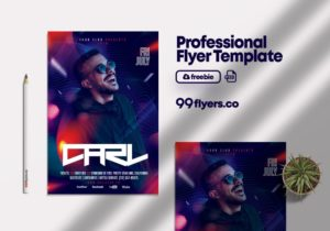 Club Party - Flyer Free PSD Template