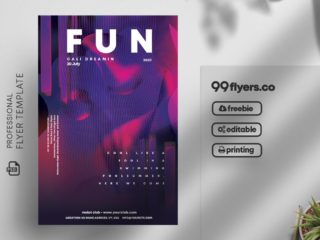 Club Party – Free PSD Flyer Template Vol2