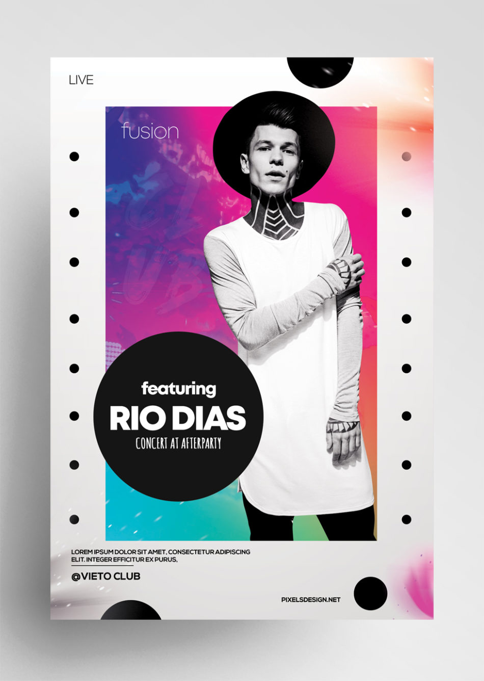 Concert Abstract Free PSD Flyer Template