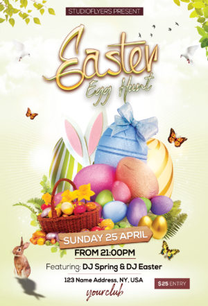 Easter Egg Free PSD Flyer Template