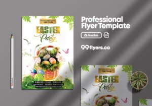 Easter Event Flyer Freebie PSD Template
