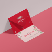 Envelope With Greeting Card Free Mockup