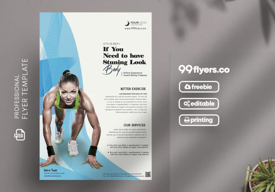Fitness Flyer – Free PSD Template