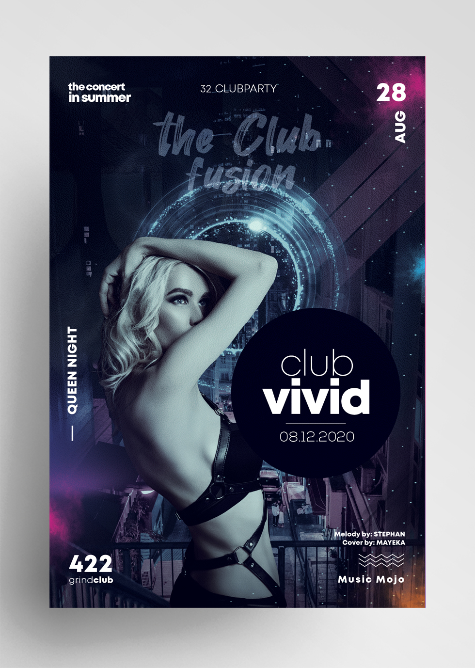 Fusion Night Club Free PSD Flyer Template
