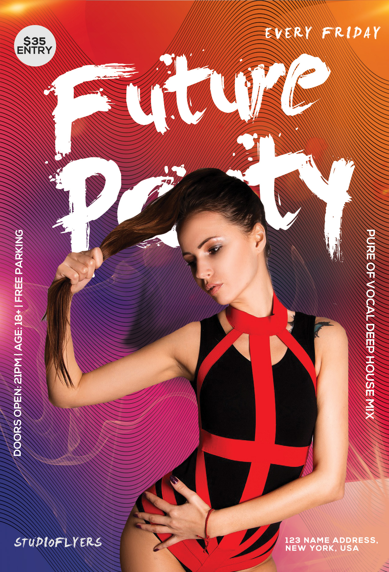 Exotic Night Party Free PSD Flyer Template