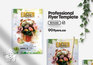 Happy Easter Egg Free PSD Flyer Template