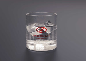 Ice Water Glass Logo Free Mockup
