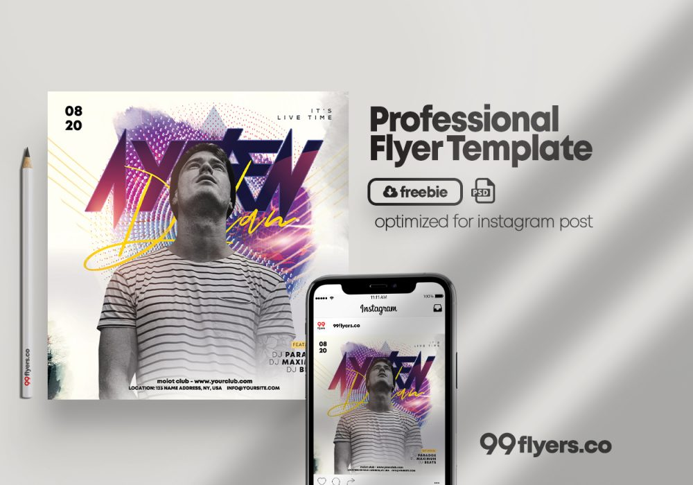 Live Performance - Free PSD Flyer Template