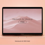 Macbook Air 2020 Free PSD Mockup