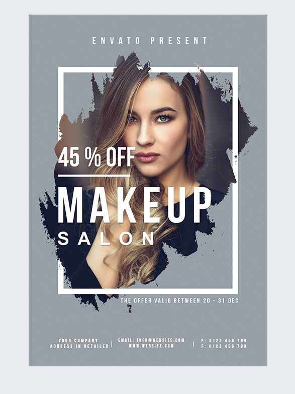MakeUp Salon Free PSD Flyer Template