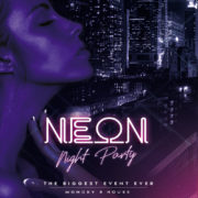 Neon Night Party Flyer Free PSD Template
