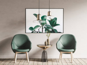 Poster Frame and Armchairs Free PSD Mockup