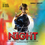 Saturday Night Free PSD Flyer Template