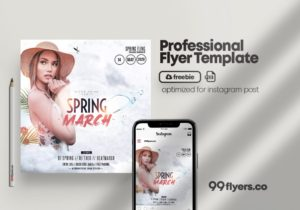 Spring Event – Freebie PSD Flyer Template