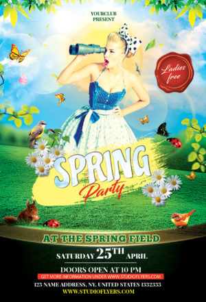Spring Event Free PSD Flyer Templates