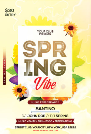 Spring Celebration Free PSD Flyer Template