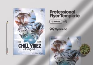 Summer Chill Event Free Flyer PSD Template