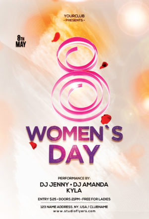 Happy Womens Day Freebie PSD Flyer Template