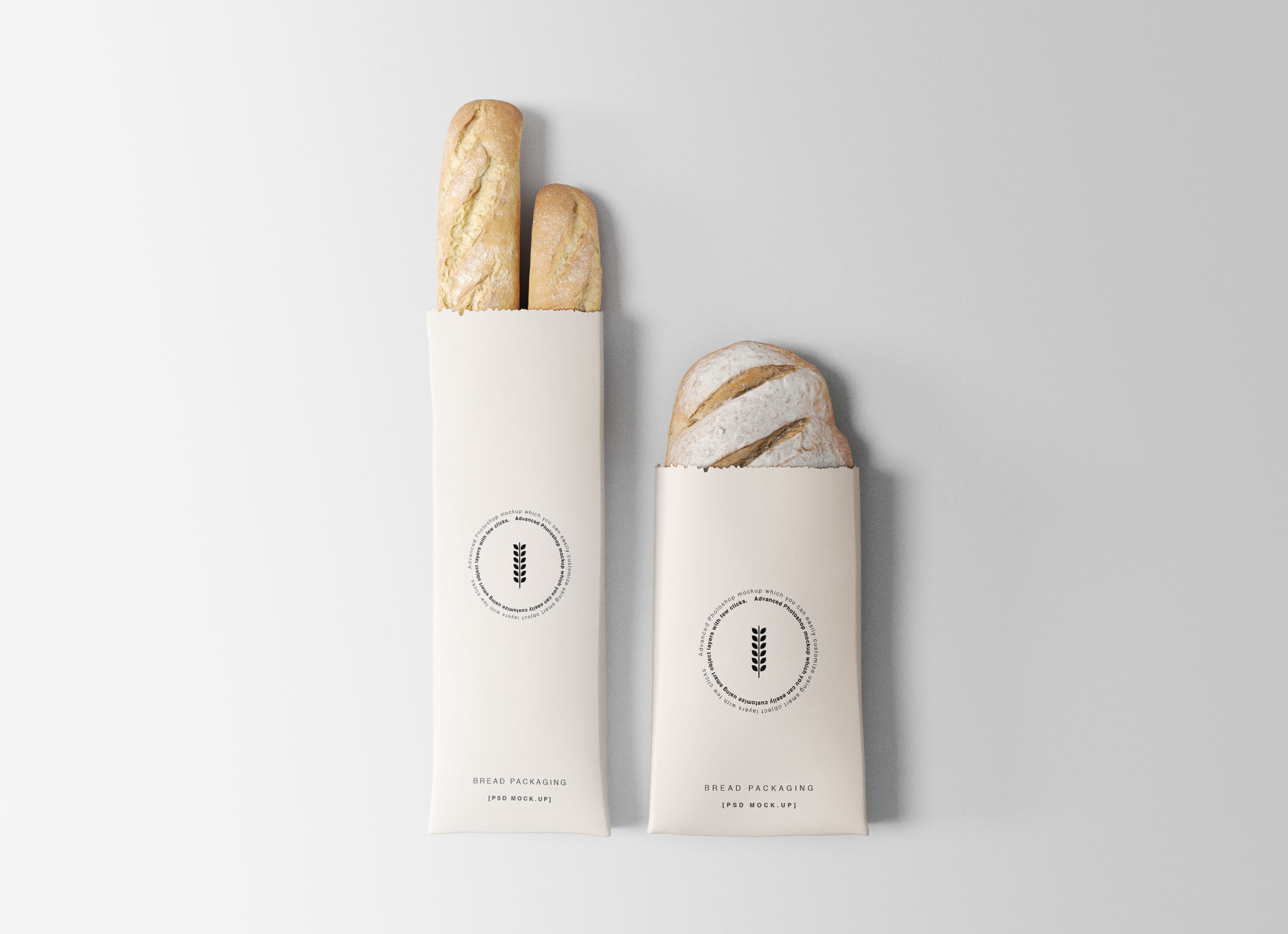 Bakery Packaging Free PSD Mockup