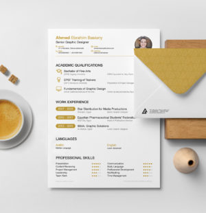 Beginner CV And Resume Free PSD Template