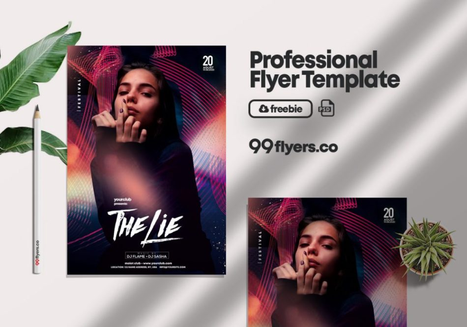 Club Time Party Freebie PSD Flyer Template