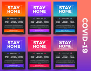Covid-19 Stay Home Free PSD Flyer Template