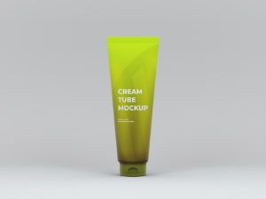 Cream Tube Free PSD Mockup