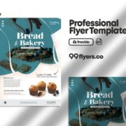 Cupcake & Bread Flyer Free PSD Template