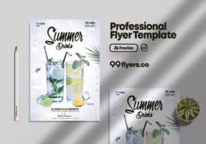 Drink Event Flyer Free PSD Template