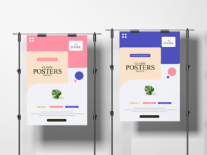 Environment Clasps Posters Free PSD Mockup