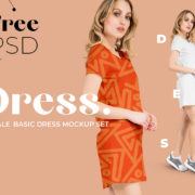 Female Basic Dress Free PSD Mockup