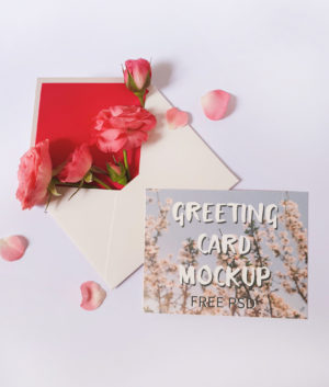 Greeting Card Free PSD Mockup