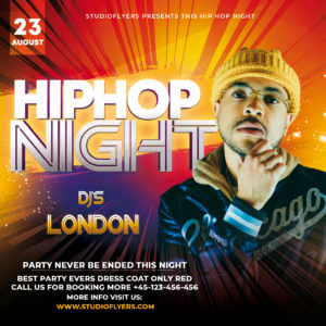 Hip-Hop Event Free PSD Flyer Template