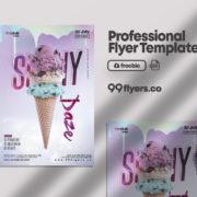 Ice Cream Flyer Free PSD Template