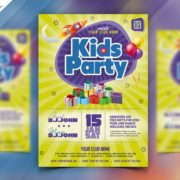 Kids Party Freebie Flyer PSD Template