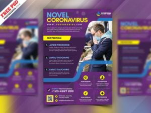 Medical Health Care Services Free PSD Flyer Template
