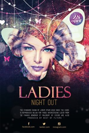 Night Out Party Free Flyer PSD Template